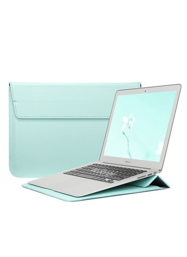 Mcstorey Apple MacBook Air Retina 13.3'' Deri Çanta Kılıf Yeşil